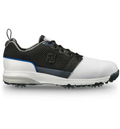 6db28f001053 Men s ContourFIT Spiked Golf Shoe-White Black   Golf Town Online Black Golf  Shoes