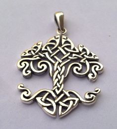 TREE OF LIFE in the beginning Pendant sterling silver. $50.00, via Etsy.
