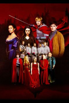 Merlin, Arthur, Morgana, Gwen, Percival Gwaine, Lancelot Elyan, Leon, Uther, Gaius, Nimueh, Morgause, and Mordred.