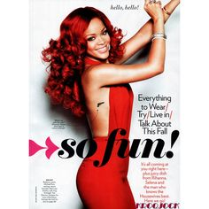 Rihanna Glamour US September 3 Clothing, Makeup Beauty Tips ❤ liked on Polyvore featuring magazine