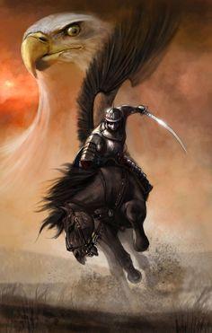 DeviantArt: More Artists Like Polish Winged Hussar by Fantasy Warrior, Fantasy Art, Patriotic Pictures, Eagle Art, Templer, Deviantart, Native American Art, Fantasy Characters, Bald Eagle