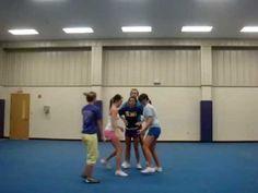 EHS Cheer Stunt Group cool split stunt at Cheerleading Videos, High School Cheerleading, Cheer Coaches, Cheer Mom, Cheer Stuff, Cheer Jumps, Cool Cheer Stunts, Cheer Pyramids, Cheer Routines