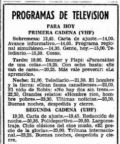 Vamos con la programación de la tele para hoy.