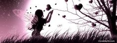Fairy Picking Hearts Facebook Cover