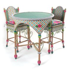 Add the glorious hues of summer to any outdoor space-the poolside patio, rooftop deck, or dock. Intricately woven of resin wicker in shades of green, pink, white, and orange, and embellished with acrylic roses and leaves. Solid iron frame. Sturdy, easy care, and made to withstand the elements.