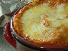 """Hush hush lasagna"" - Puree onion, bell pepper, zucchini and carrots into sauce"