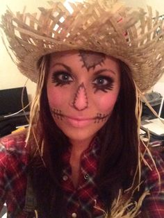 Cute Scarecrow Makeup! LOVE this look for Halloween! <3 #halloween ...