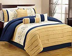 DCP 7-Piece Bedding Comforter Set Comfort Oversized Sage Cal King
