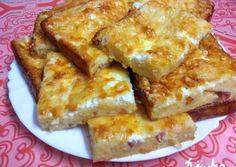 Sajtos-baconös krumplis prósza recept foto Kefir, French Toast, Bacon, Bakery, Breakfast, Food, Morning Coffee, Essen, Meals