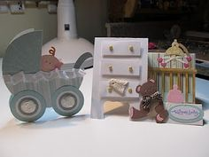Welcome baby cards; how cute are these! tutorial for the dresser card!