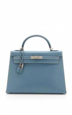 c3fd7787ced9 Vintage Hermès from Heritage Auctions 32cm Blue Jean Calf Box Leather Kelly   Hermeshandbags