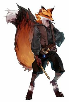 Kitsune Bard - Pathfinder PFRPG DND D&D d20 fantasy