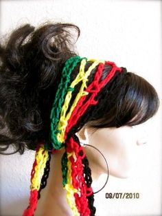 reggae rasta colored headband