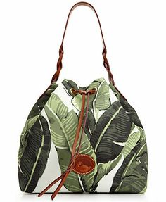 Dooney & Bourke Banana Leaves Drawstring Bucket Bag Acquired 2/11/2014. Loved it so much I bought one for my sister too. Happy Birthday, Lisa!