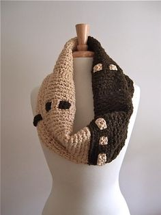 Organic Cotton Oversized Cowl - Tunisian Crochet.