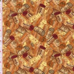 Wine A Little, You'll Feel Better by Cynthia Coulter for Wilmington Prints ~ Warm and rich colors, grape vines, and wine bottles and labels come together in a collection perfect for any wine lover! There is even an apron panel! Follow this pin to the Fabric Shack to see the entire collection!