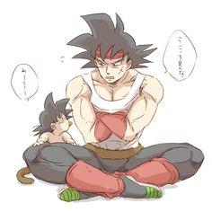 Tags: Anime, Pixiv Id 1132359, DRAGON BALL, Son Goku (DRAGON BALL), Bardock (DRAGON BALL), Speech Bubble, Baby
