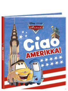 Tiesitkö, että Guido ja Luigi ovat alun perin italialaisia? Autot, Ciao Amerikka! -kuvakirja kertoo näiden kahden autoveijarin ihka ensimmäisestä matkasta halki Amerikan mantereen. Määränpäänä niillä on tietysti Syylari City, mutta ennen sitä ehditään nähdä monta kiinnostavaa ja hienoa paikkaa, kuten Grand Canyon ja Niagaran putoukset. Entä näkevätköhän ystävykset matkallaan ihailemansa Ferrarin? Frosted Flakes, Disney Pixar, Luigi, Grand Canyon, Ferrari, Box, Snare Drum, Grand Canyon National Park