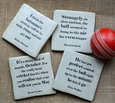 Set Of Four Ceramic Famous Cricket Quotes Coasters by Me and My Sport, the perfect gift for Explore more unique gifts in our curated marketplace. Richie Benaud, Cricket Cake, Dhoni Quotes, Cricket Quotes, Cricket Sport, Motivational Posts, Restaurant Concept, Different Quotes, Sport Quotes