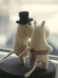 Муми-тролли - белый, муми-тролли, Муми-тролль, игрушка из шерсти, муми-папа