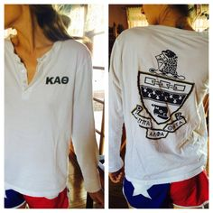 Henley sorority shirt | But mine would be AXΩ of course