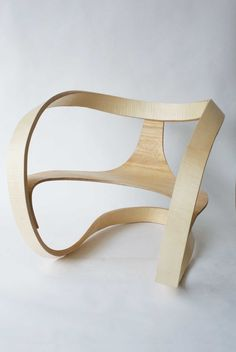 Mobius Chair by Adam Raphael Markowitz - A single, narrow strip forms the backrest, armrest and support.