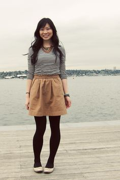 preppy cute - khaki skirt & red sweater | Wearing | Pinterest ...