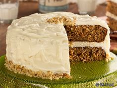 Buttermilk Carrot Cake - This homemade carrot cake recipe is extra creamy and moist. We add some canned pineapples and walnuts to add more texture and flavor to this already delicious cake!
