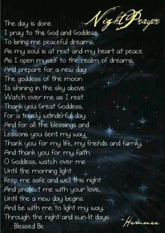 pagan night prayer . Follow me @Paranormal Collections . Visit Paranormalcollections.com to see more cool pagan magick Vv
