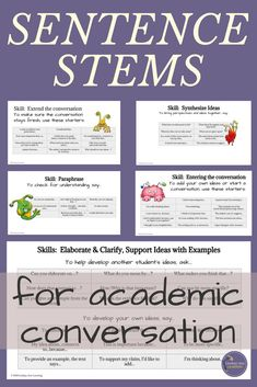These helpful discussion stems for academic conversation will add depth and rigor to your next discussion activity. This discussion strategy provides middle school and high school English language arts students with a menu of discussion sentence starters Sentence Stems, Sentence Starters, Education Quotes For Teachers, Quotes For Students, Stem Skills, Middle School English, English Class, English Language, Language Arts