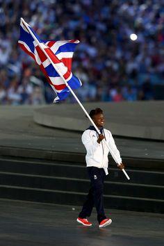 Olympic Boxing Champion, Nicola Adams is Flagbearer for Team GB.