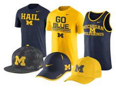 Introducing the Nike Michigan Collection. Show your school pride and grab some new school gear before heading back! Go Wolverines!
