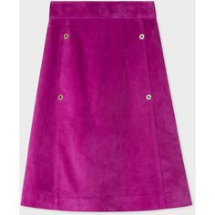 Paul Smith Women's Purple Suede Midi Skirt (47.585 RUB) ❤ liked on Polyvore featuring skirts, purple, purple skirt, calf length skirts, paul smith, mid-calf skirt and knee length a line skirt