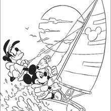 Basketball match Coloring page DISNEY coloring pages Mickey