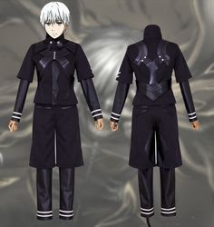 Tokyo Ghoul Kaneki Ken Jumpsuit Battle Uniform Anime Cosplay Costume Pants Jackets Coat #Affiliate