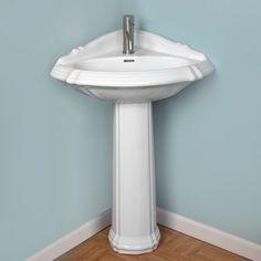 Powder Room On Pinterest Corner Sink Pedestal Sink And