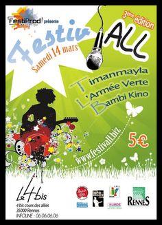 Recherche de visuel - Création d'affiche FESTIV'ALL Rennes