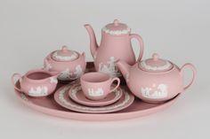 Miniature tea set Wedgwood Pink Jasper