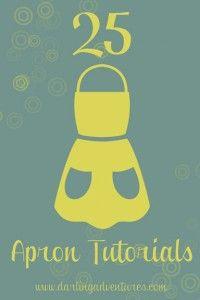 25 Apron Tutorials sewing machines, gift, craft, aprons, apron patterns, kitchen, apron tutori, blog, shirt