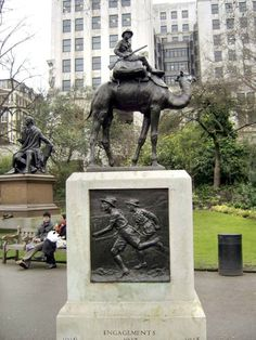 Camel Corps: If only the World War I Camel Corps hadn't been disbanded in 1919… Think of the fun they'd add to the Remembrance Sunday parade. In its short history, the Camel Corps fought in many key battles, all of which are listed on this monument, erected in 1921 and sculpted by veteran of the brigade Major Cecil Brown. The closest you can get to viewing their exploits these days is watching David Lean's 'Lawrence of Arabia'. Embankment Gardens, WC1.