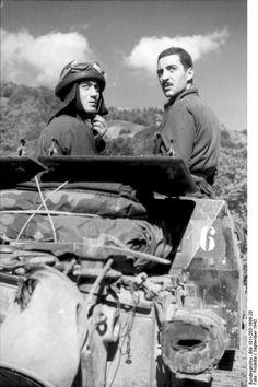 Italian tank crew. Albanien September 1943