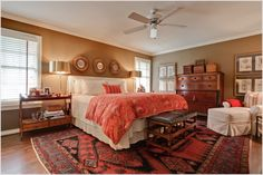 oriental rug in bedroom masterbed | Bedroom Transitional Dallas antiques area rug Bedroom bedside table ...