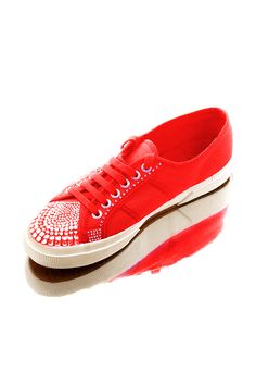 Red Custom Design Superga ,