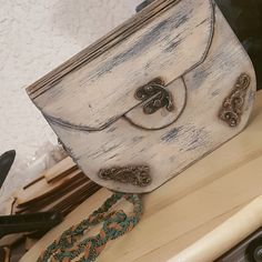 Amazing wooden purse made in our laser cutter by our awesome makers Foteini Notsika and Vangelis Tsitsimpikos Wooden Purse, Awesome, Amazing, Purses, Wallet, How To Make, Handmade, Handbags, Hand Made
