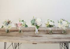 pale and muted bouquets | Photo by We Call This Love, Bouquets by Root 75, Event Design & Planning by Beau & Arrow