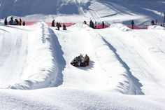 Snow tubing hill in Colorado's Copper Mountain Resort