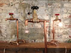 Copper pipe lamps