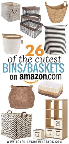 Basket Making Ideas Storage Bins 27 Ideas For 2019 Small Bathroom Storage, Small Storage, Bedroom Storage, Storage Baskets, Storage Ideas, Diy Bedroom, Diy Storage Containers, Kids Storage Bins, Decorative Storage Bins