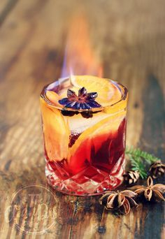 "German ""Feuerzangenbowle"" cocktail"