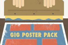 FREE THIS WEEK!   Check out Gig Poster Pack (+2 Bonus Halftones) by Brink Design Co. on Creative Market